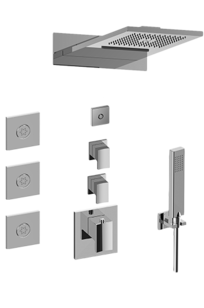 M-Series Full Thermostatic Shower System with LED - GM3.124SE-LM38E0 on Designer Page