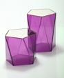 Pentagonal side table magenta medium cropped