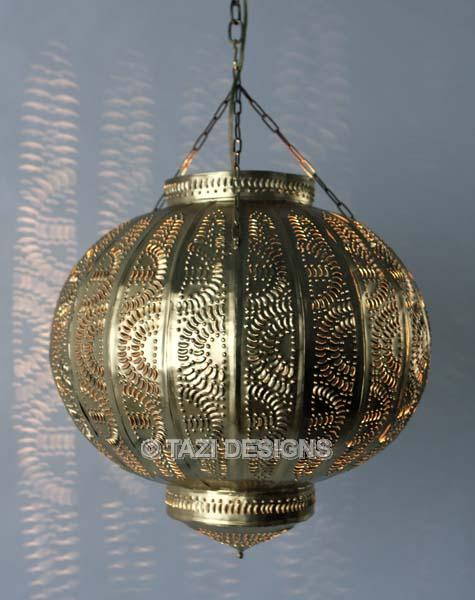 Moroccan Hanging Lantern Tin Pendant Light