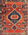 Nasiri 1814 antique kazak  200 x 144cm  medium cropped