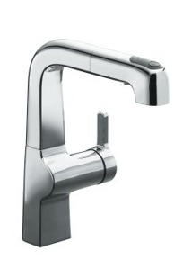 K-6332 - Evoke™ single control pullout secondary kitchen faucet on Designer Page