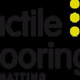 Tactile flooring logo footer sq160