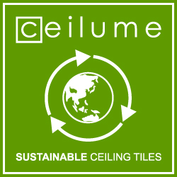 Ceilume sustainable ceiling tiles logo