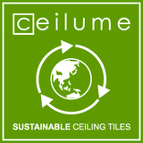 Ceilume sustainable ceiling tiles logo sq160